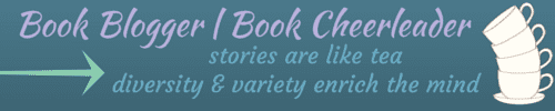 Book Blogger / Book Cheerleader banner made by Jorie in Canva. Using Coffee and Tea Clip Art Set purchased on Etsy; made by rachelwhitetoo.
